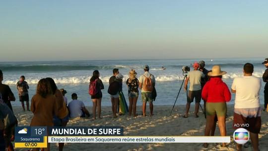 Tem Campeonato Mundial de Surf, em Saquarema, no feriadão