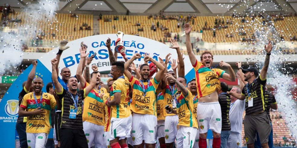 Brusque campeão Série D 2019 — Foto: Thais Magalhães/CBF