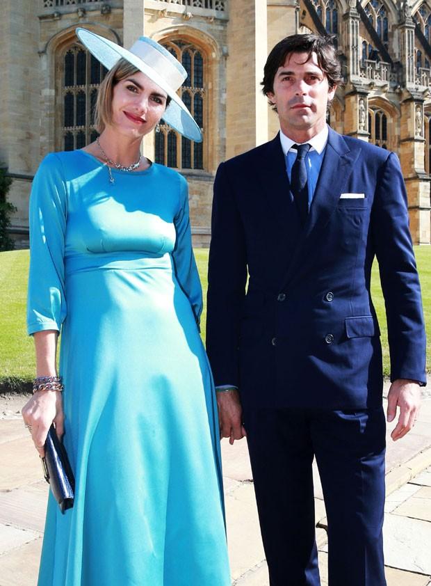 Dlefina Blaquier e o marido, Nacho Filgueras, jogador de polo e amigo do príncipe Harry, convidados do casamento real (Foto: Getty Images)