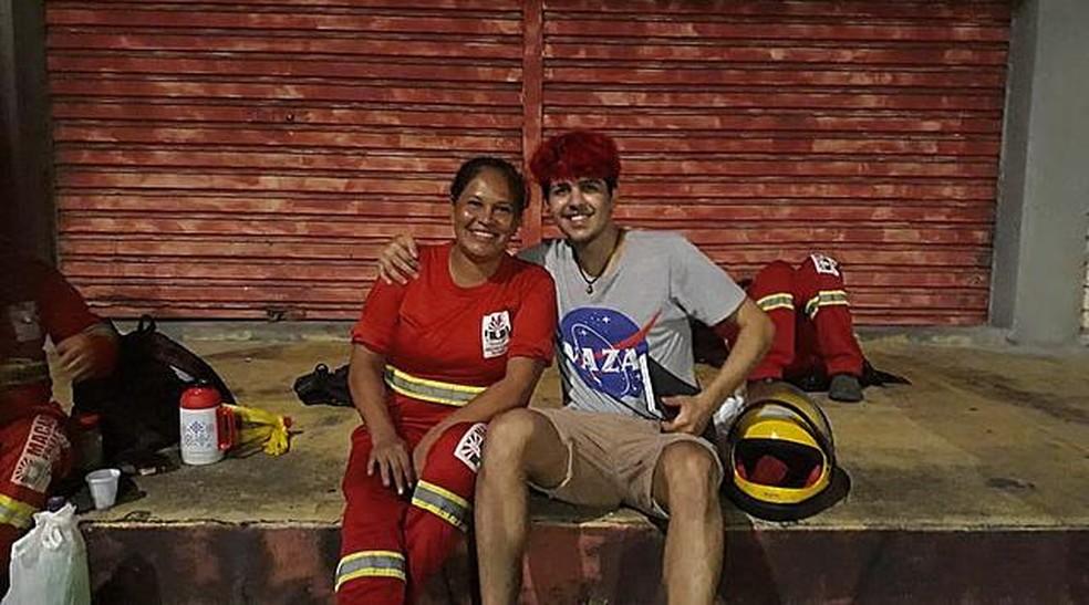 Josilene Gomes (à esquerda) e Marcelo Viegas (à direita)  — Foto: Marcelo Viegas/Arquivo Pessoal