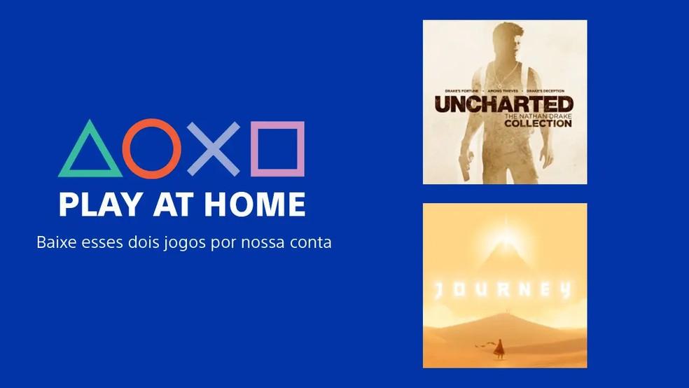 Sony lança o programa Jogue em Casa, que dá acesso grátis a dois jogos e cria fundo para estúdios pequenos — Foto: Divulgação/Sony
