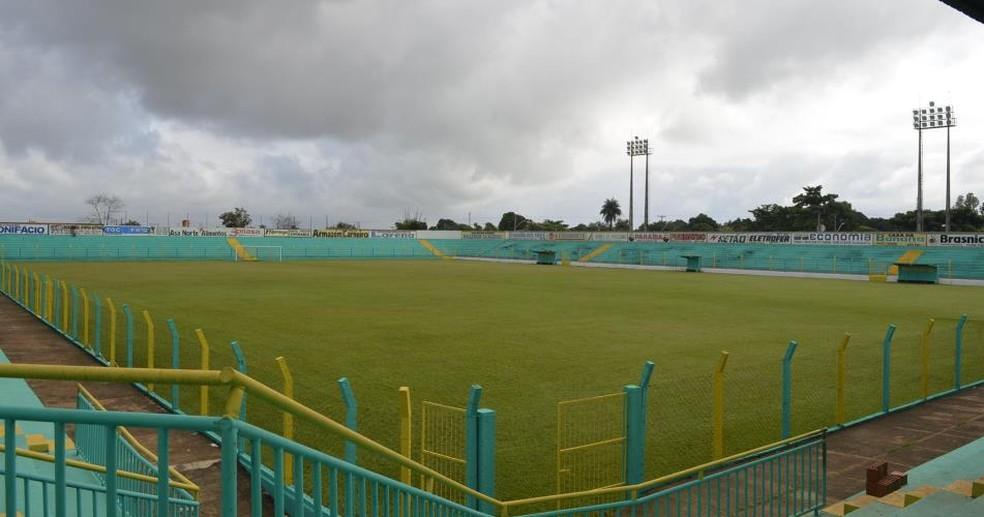 Estádio Ribeirão, em Tocantinópolis  — Foto: Tocantinópolis/Divulgação