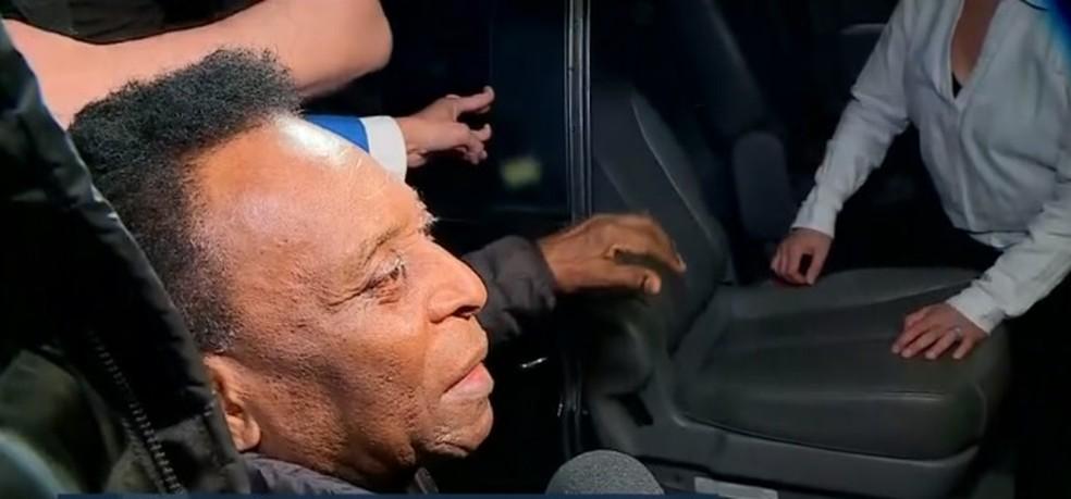 Pelé ficou sete dias internado em São Paulo — Foto: Reprodução