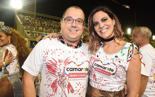 Michel Diamant e Carol Sampaio