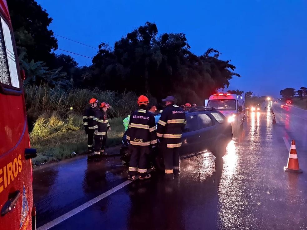 Acidente deixou 1 pessoa morta e três feridos em Araraquara — Foto: ACidadeON/Araraquara