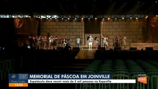 Memorial de Páscoa deve reunir 5 mil pessoas nesta sexta (19) em Joinville