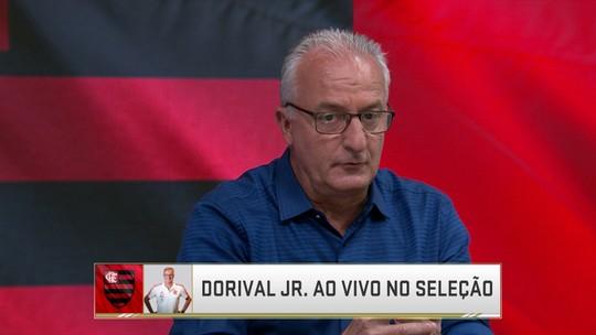 """Vice do Brasileirão com o Flamengo, Dorival exalta Barbieri: """"o grande trabalho foi dele"""""""