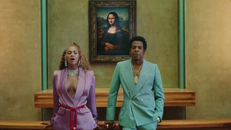 Cena de Apeshit, primeiro single do álbum Everything is Love, de Beyoncé e Jay-Z (Foto: Reprodução YouTube)
