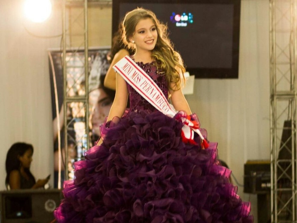 Maria Clara Lins foi eleita a Mini Miss Brasil 2016 (Foto: Duda Lima/Arquivo Pessoal)