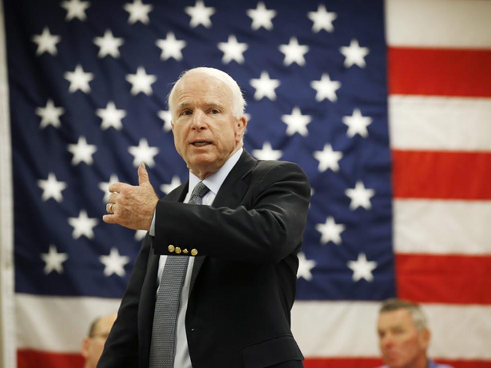 O senador republicano John McCain em foto de 30 de junho de 2015 (Foto: AP Photo/Ross D. Franklin, File)