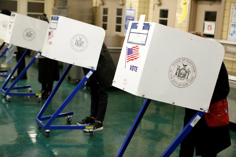EUA vão às urnas em Manhattan — Foto: Andrew Kelly/Reuters