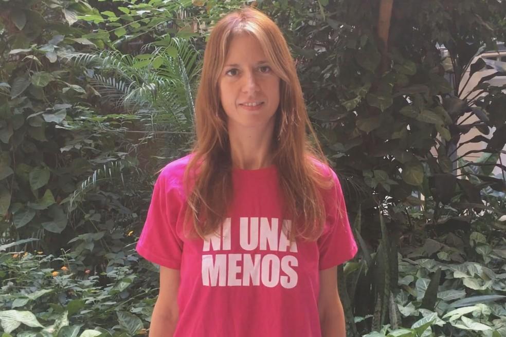 """Cecilia Palmeiro, ativista do Ni Una a Menos na Argentina: """"As violências contra as mulheres são majoritariamente econômicas"""" (Foto: Cecilia Palmeiro)"""