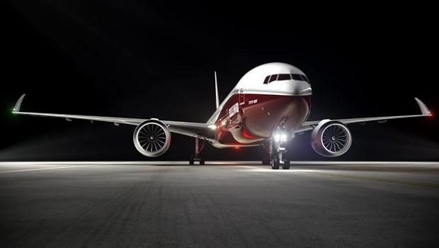 Foto ilustrativa do novo Boeing 777X (Foto: Divulgação)