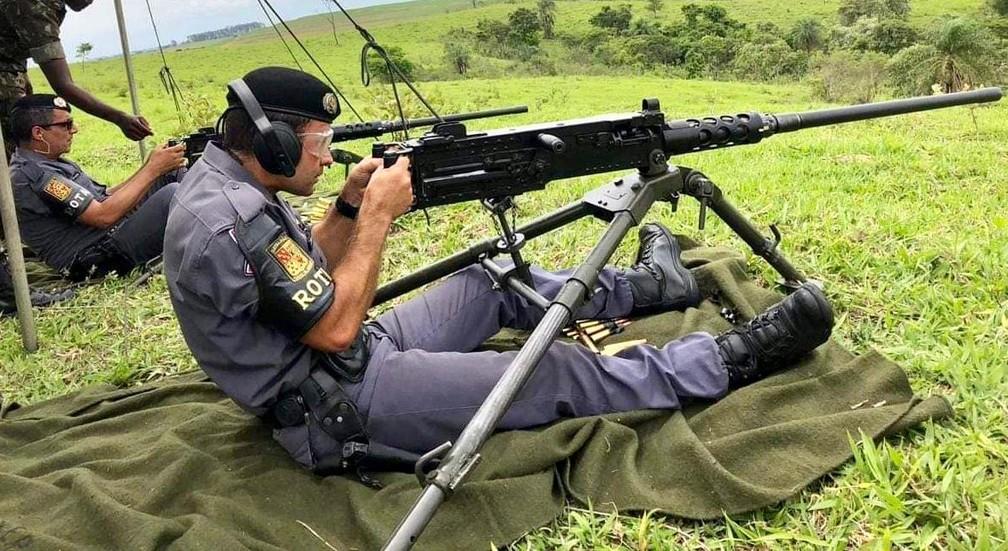 Policiais participaram de treinamento do Exército em Lins após descoberta de plano de fuga  — Foto: J. Serafim / Divulgação