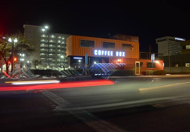 The Coffee Box em El Paso, nos Estados Unidos (Foto: Reprodução/Facebook/Root Architects)