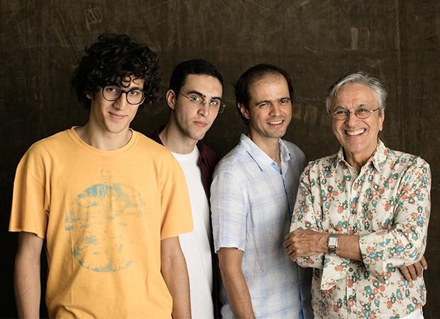 Tom, Zeca, Moreno e Caetano Veloso (Foto: Jorge Bispo/Divulgação)