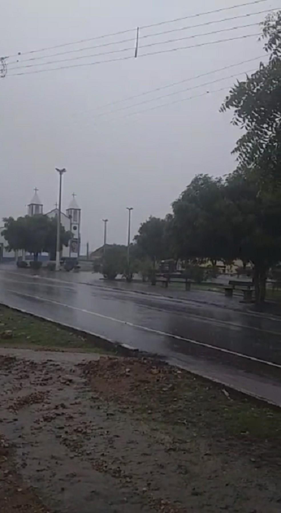 Viçosa do Ceará recebeu chuvas de 31 milímetros.  — Foto: Reprodução/Sistema Verdes Mares