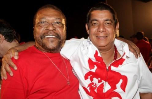Com Martinho da Vila em evento de homenagem a São Jorge, 2009