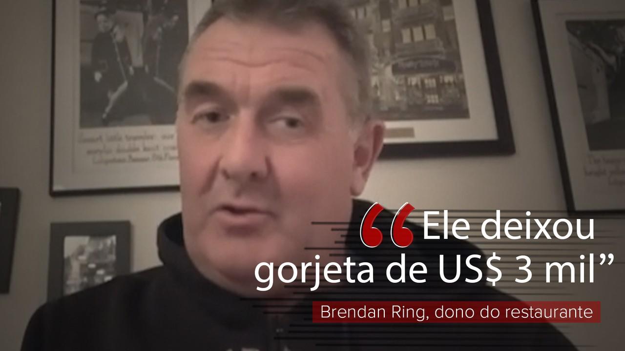 VÍDEO: homem deixa gorjeta de US$ 3 mil em restaurante fechado por coronavírus nos EUA