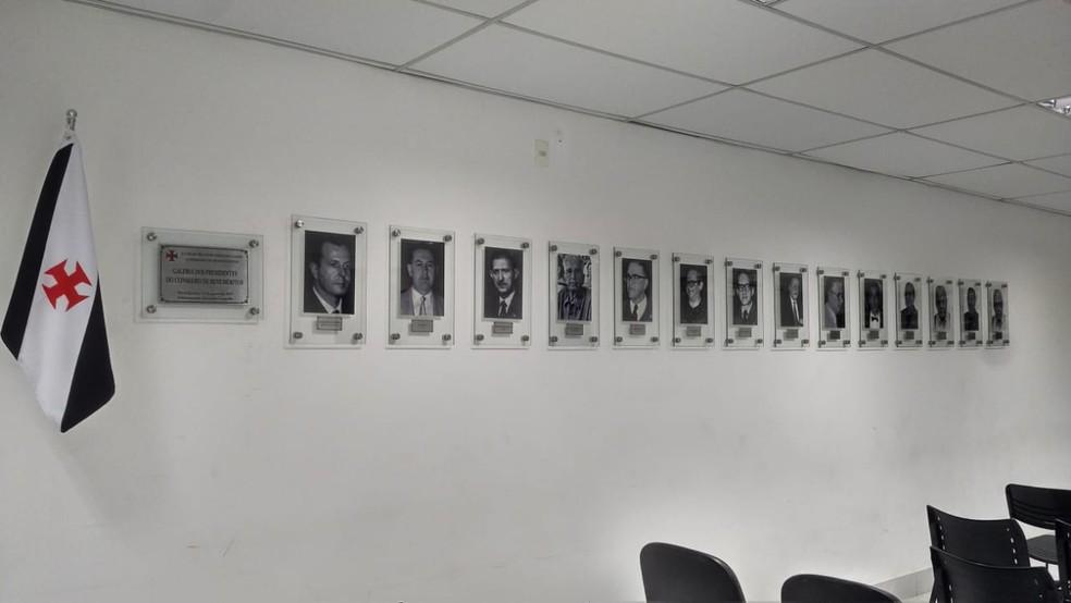 Galeria com retratos dos presidentes do Conselho de Beneméritos será inaugurada nesta quarta — Foto: GloboEsporte.com
