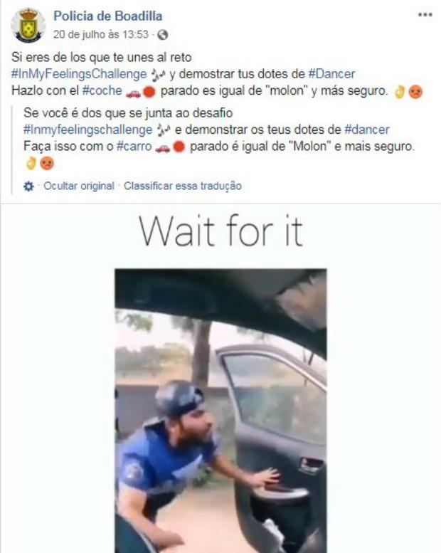 Desafio lançado na internet com a música 'In My Feelings', de Drake, é divertido, porém perigoso (Foto: Reprodução Facebook)