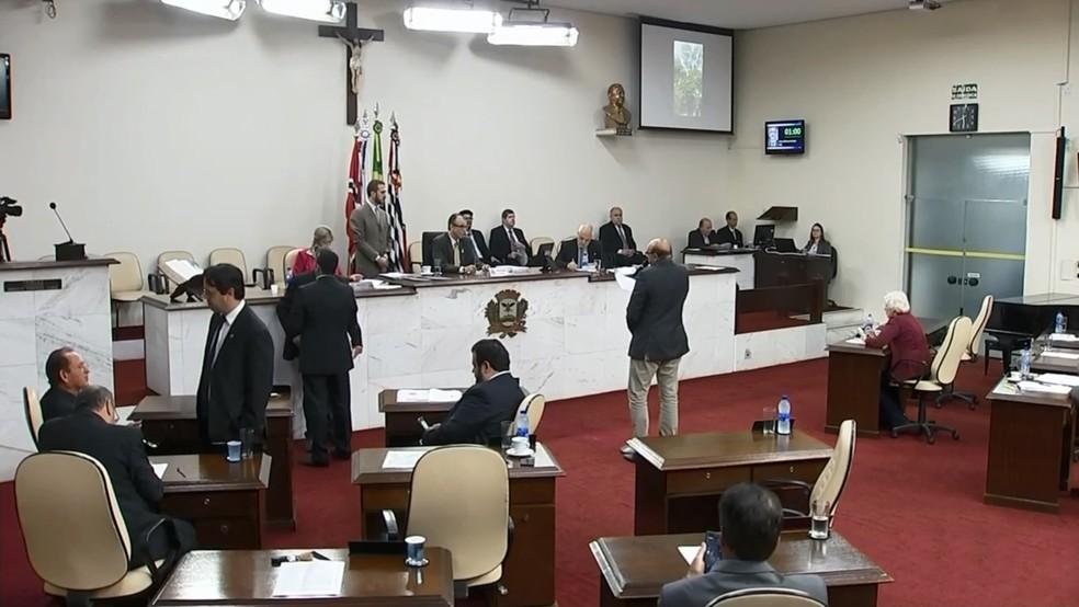 Veto foi derrubado durante a sessão desta terça-feira (18) em Rio Preto — Foto: Reprodução/TV TEM