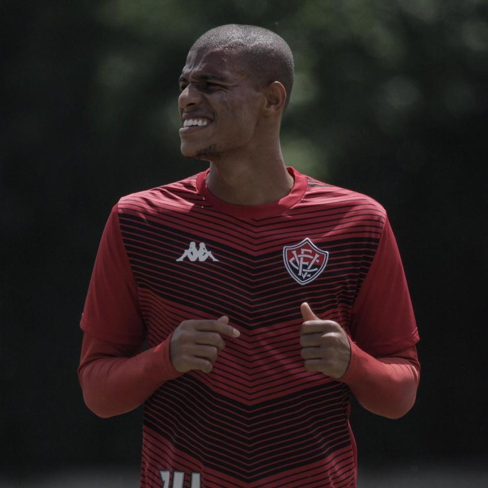 Lucas Cândido não fez jogos oficiais em 2020 — Foto: Letícia Martins / Divulgação / EC Vitória