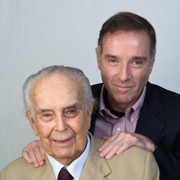 Eliezer Batista e Eike Batista (Foto: Dario Zalis)
