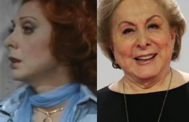 """""""Locomotivas"""" (1977) voltará ao ar no Viva em novembro de 2021. Aracy Balabanian viveu Milena, que disputava Fábio (Walmor Chagas) com a filha, Fernanda (Lucélia Santos). A atriz estará em """"Quanto mais vida melhor"""" (Foto: TV Globo)"""