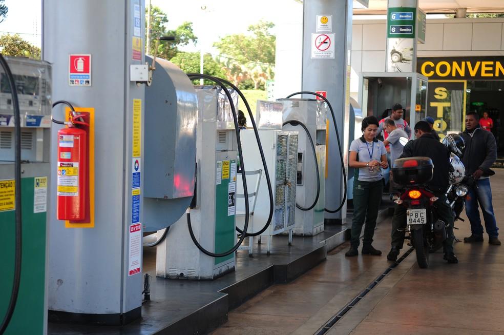 Posto de gasolina no DF, em imagem de arquivo — Foto: Pedro Ventura/Agência Brasília
