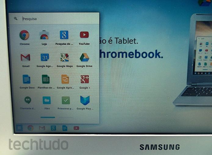 O computador roda todos os apps do Chrome OS sem engasgos (Foto: Paulo Alves/TechTudo)