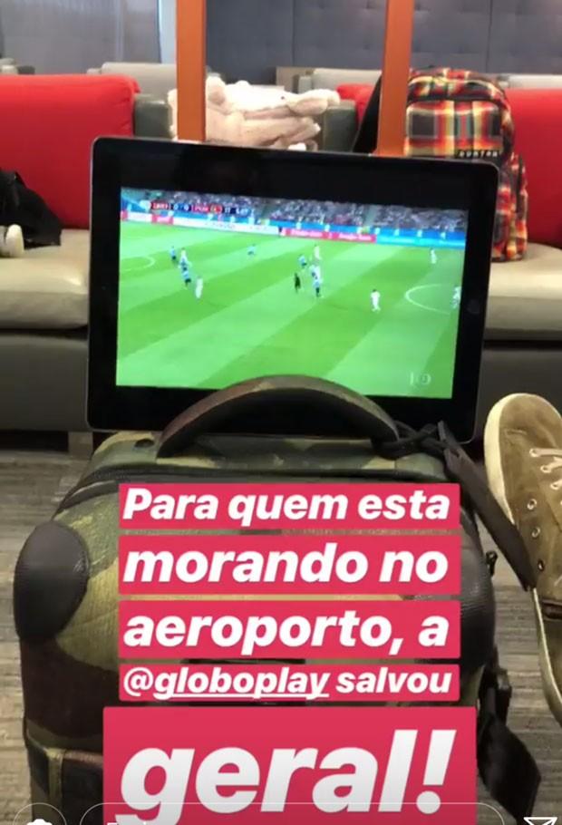 Luciano Huck no aeroporto (Foto: Reprodução/Instagram)