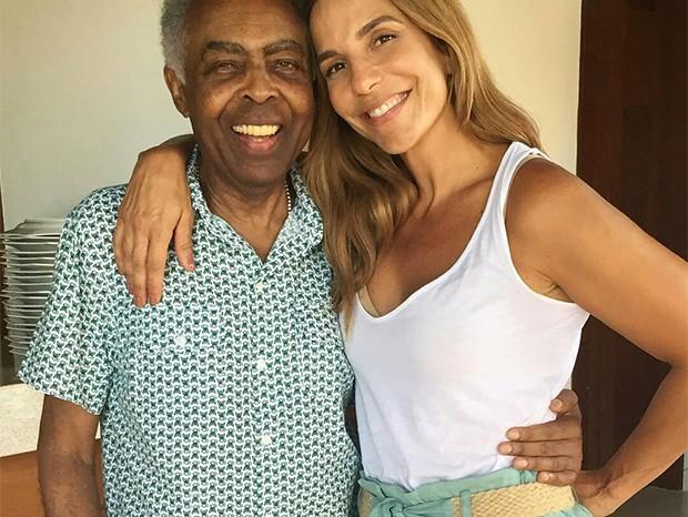 Ivete Sangalo e Gilberto Gil (Foto: Reprodução/ Instagram)