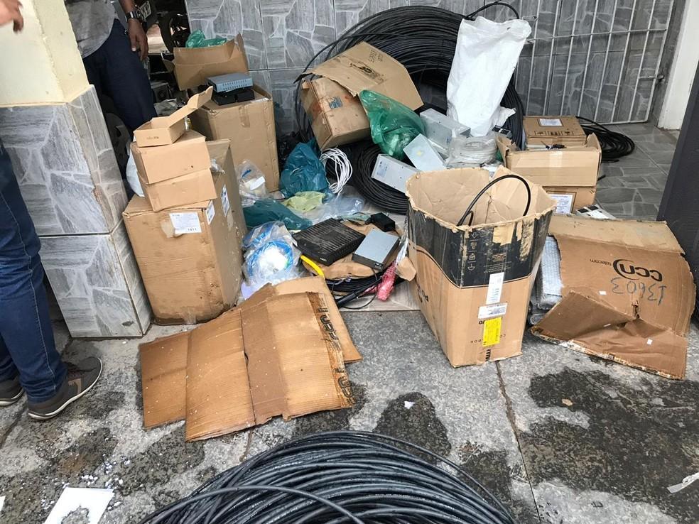Material apreendido pela polícia em Zé Doca — Foto: Divulgação/Polícia Civil