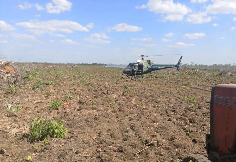 Propriedade rural foi alvo da fiscalização — Foto: Divulgação/Corpo de Bombeiros
