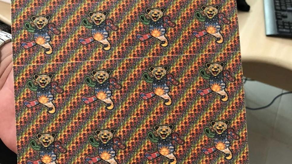 Micropontos de LSD foram apreendidos pela Polícia Federal, na Paraíba (Foto: Polícia Federal/PB/Divulgação)