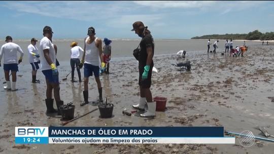 Óleo volta a aparecer em praia do município de Prado, no extremo sul da Bahia