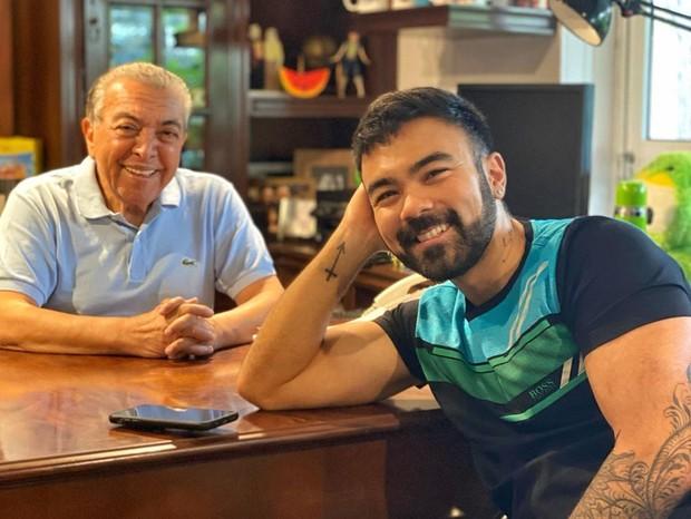 Mauricio de Sousa e Mauro Sousa (Foto: Reprodução/Instagram)