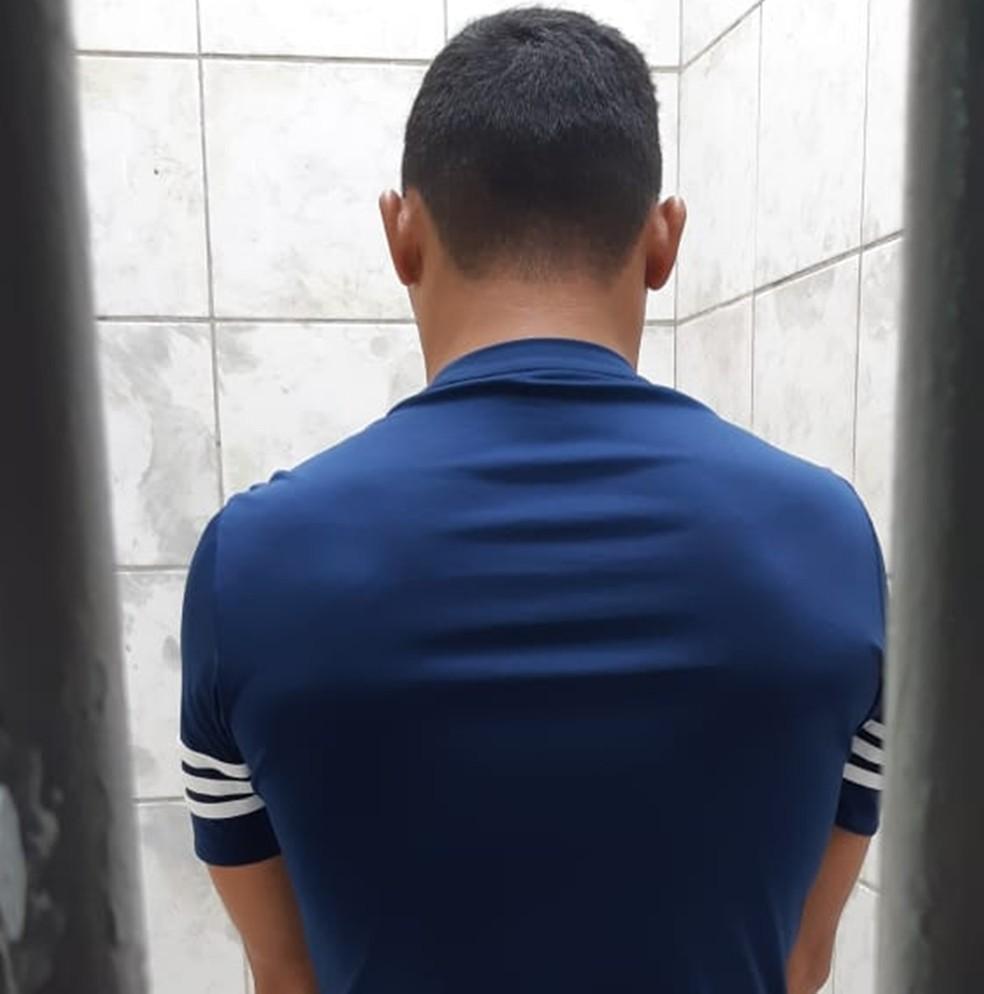 Suspeito preso é investigado por assaltos e outros crimes cometidos na região — Foto: Polícia Civil do RN/Divulgação