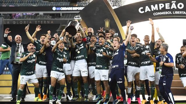Palmeiras comemora o título da Libertadores