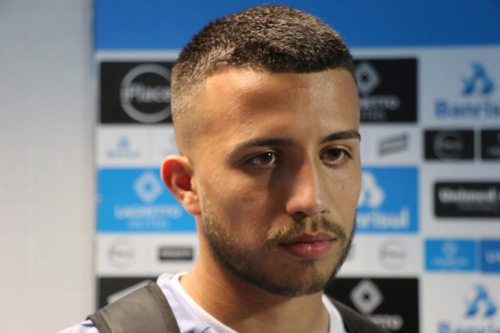 Matheus Henrique dedicou gol da vitória ao grupo — Foto: Beto Azambuja / GloboEsporte.com