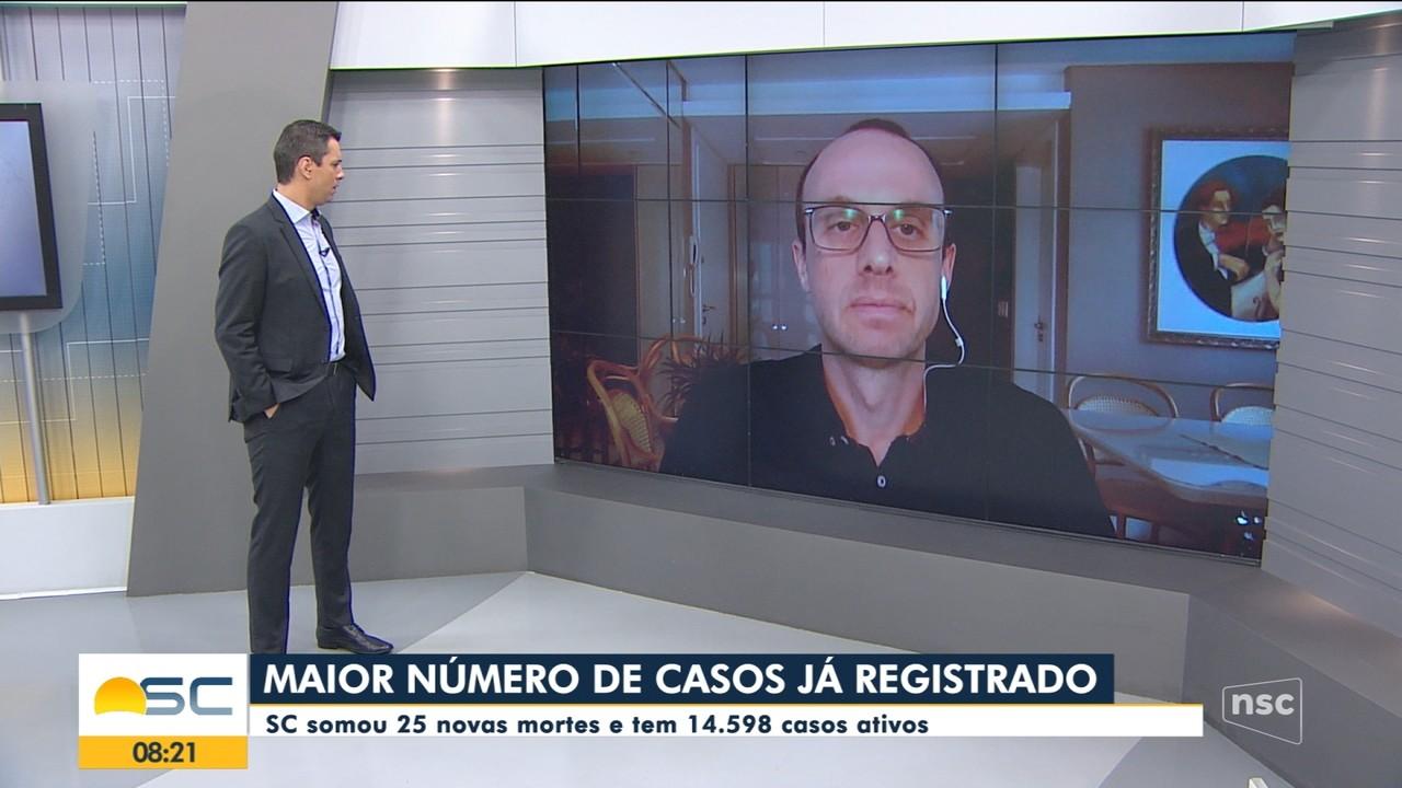 Renato Igor fala sobre o aumento de casos de Covid-19 em SC