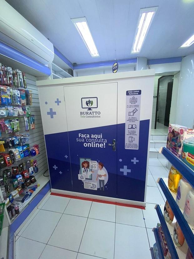 Buratto Tele: cabine será instalada dentro de espaços públicos (Foto: Divulgação)