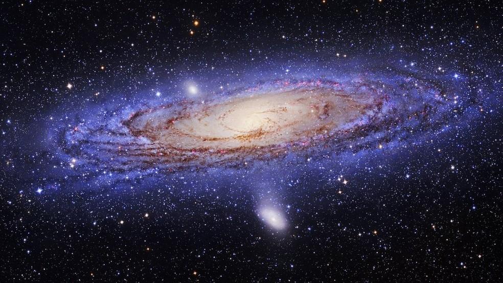 Galáxia Andrômeda 'engoliu' a M32p, que era uma galáxia de grande porte, há 2 bilhões de anos (Foto: Science Photo Library)
