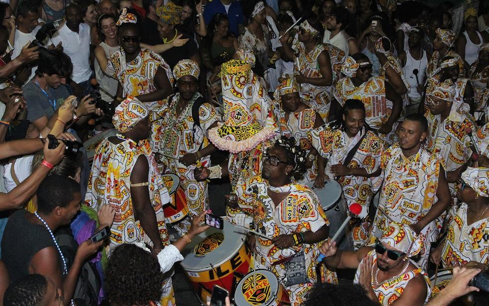 Desfile do Ilê Aiyê no carnaval de Salvador de 2017. — Foto: Tiago Caldas /Ag Haack