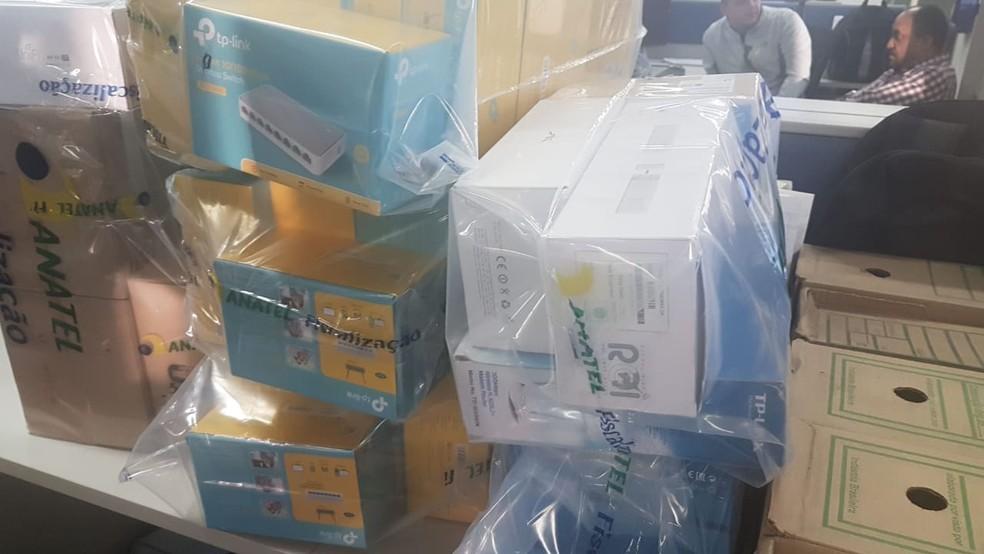 Anatel fez operação contra a distribuição de produtos de telecomunicação sem autorizaçãocontra a distribuição de produtos de telecomunicação sem autorização (Foto: Divulgação/Anatel)