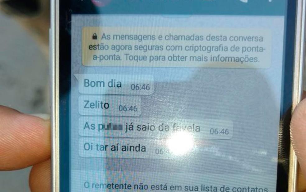 Suspeito foi preso após enviar mensagem para saber se a polícia já havia deixado o local  (Foto: SSP/ Divulgação)