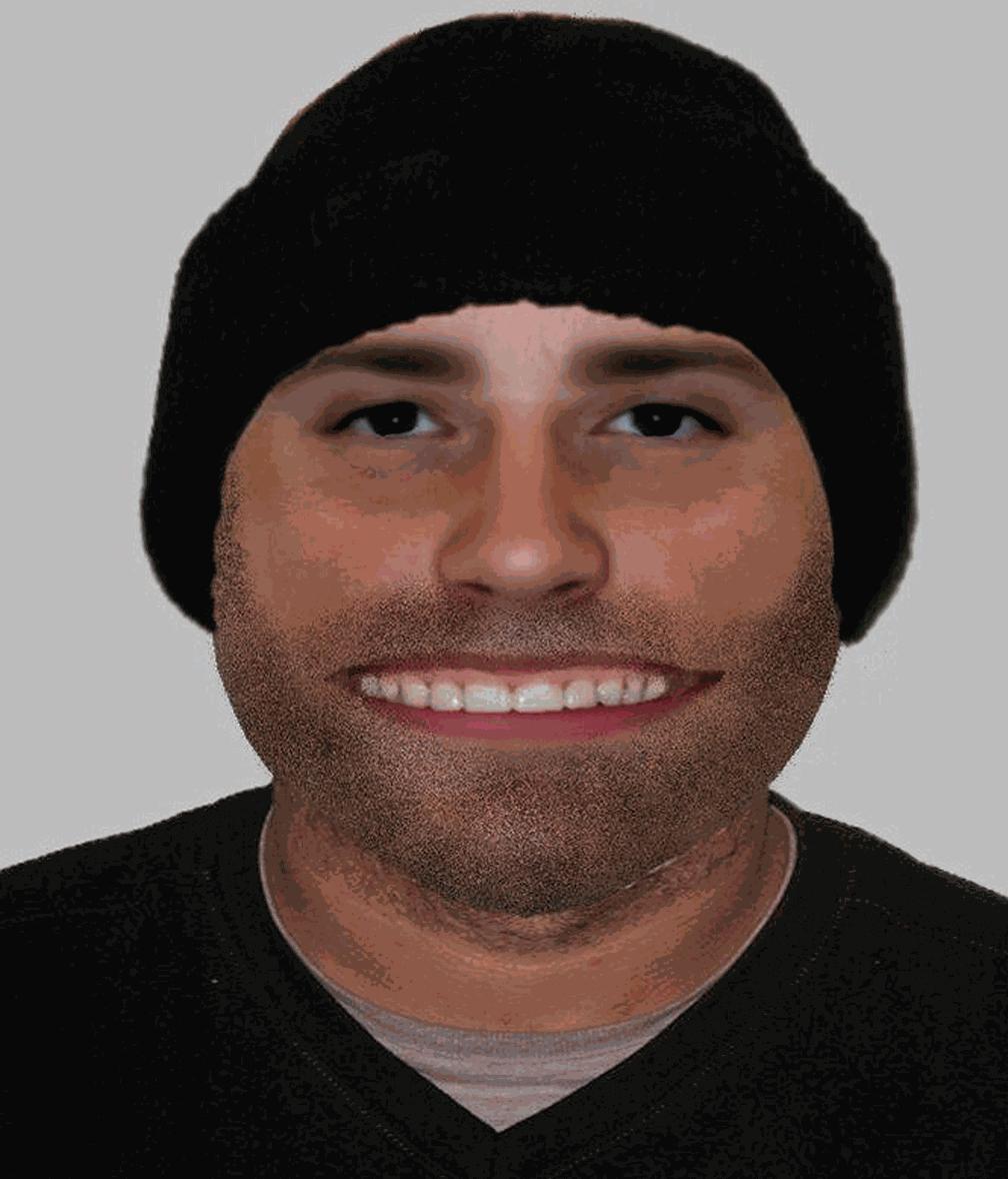 Polícia britânica divulga retrato falado de suspeito com boca enorme e gera piadas na web (Foto: Warwickshire Police/Facebook)