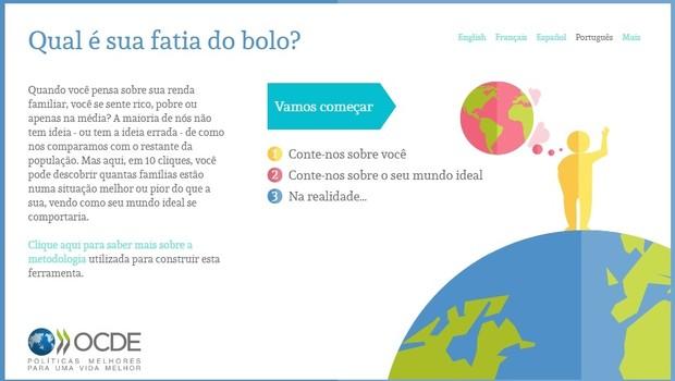 Compare a sua renda, ferramenta da OCDE (Foto: Reprodução)