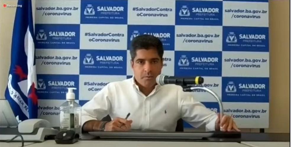 ACM Neto disse que Salvador vai antecipar feriado de 8 de dezembro — Foto: Reprodução
